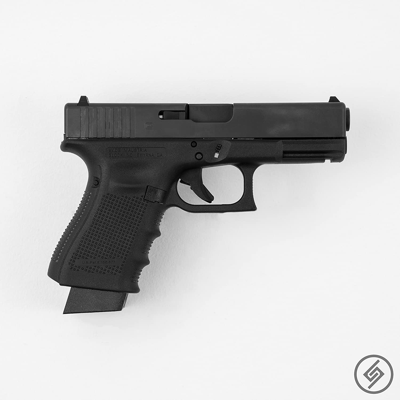 Double pistol handgun revolver gun display case cabinet rack shadowbox - Amazon Com Spartan Mounts Glock 17 19 26 31 32 33 34 Wall Mount Pistol Display R Industrial Scientific