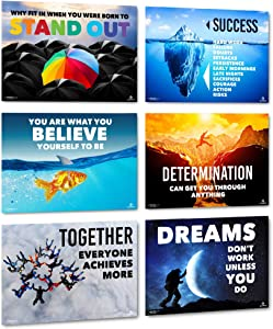 Sproutbrite Classroom Decorations - High School Motivational Posters - Educational and Inspirational Growth Mindset for Teacher and Students
