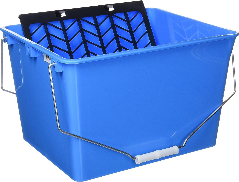 Cofan 15005596 Cubeta con rejilla 2 asas, Azul, 16 L