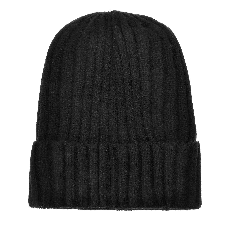 ZLYC Unisex Winter Ribbed Knit Cuff Beanie Hat Soft Comfort Skull Cap
