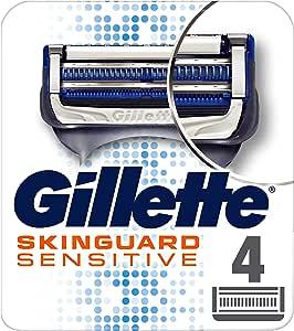 Gillette SkinGuard Men's Razor Blades For Sensitive Skin, 4 blade Refills