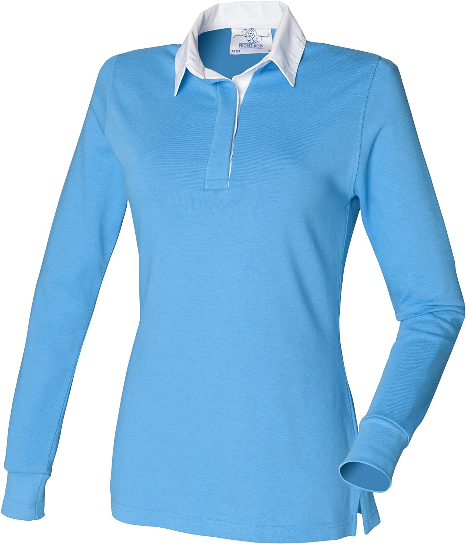 Front Row Womens Long Sleeve Polo Shirt