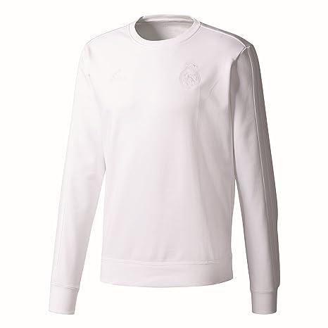 d56b5066bc0c9 Amazon.com : adidas 2017-2018 Real Madrid SSP Crew Sweater (White ...
