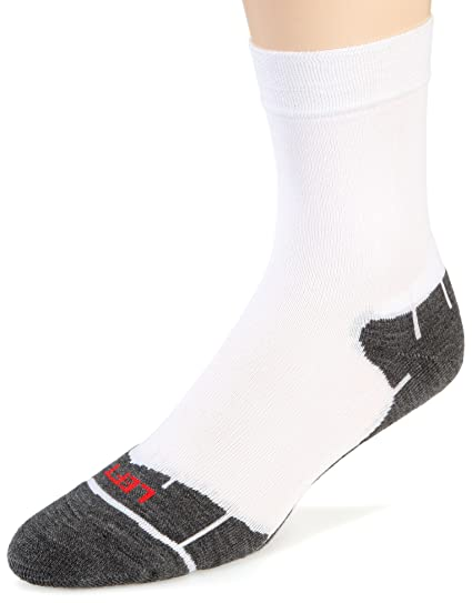 Flite Calcetines tobilleros para ciclismo de carretera Confort para hombre, blancos, 47-49