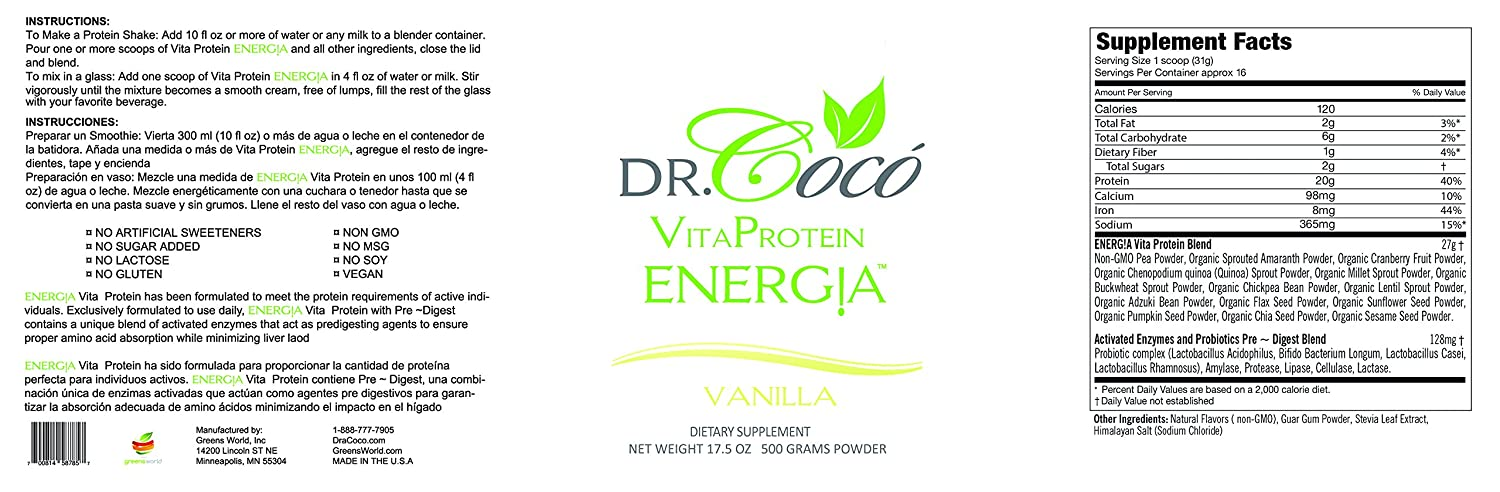 Doctor Formulated 20g Vegan Protein So Delicious You Wont Believe Is Good For You IDEAL FOR GI SENSITIVITIES with Probiotics & Enzymes VANILLA Flavor