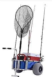Carretes musculares HDBC-BLUE Carro de pescado y marino, 68,5 cm de altura, 101,6 cm de ancho, 76,2 cm de longitud,