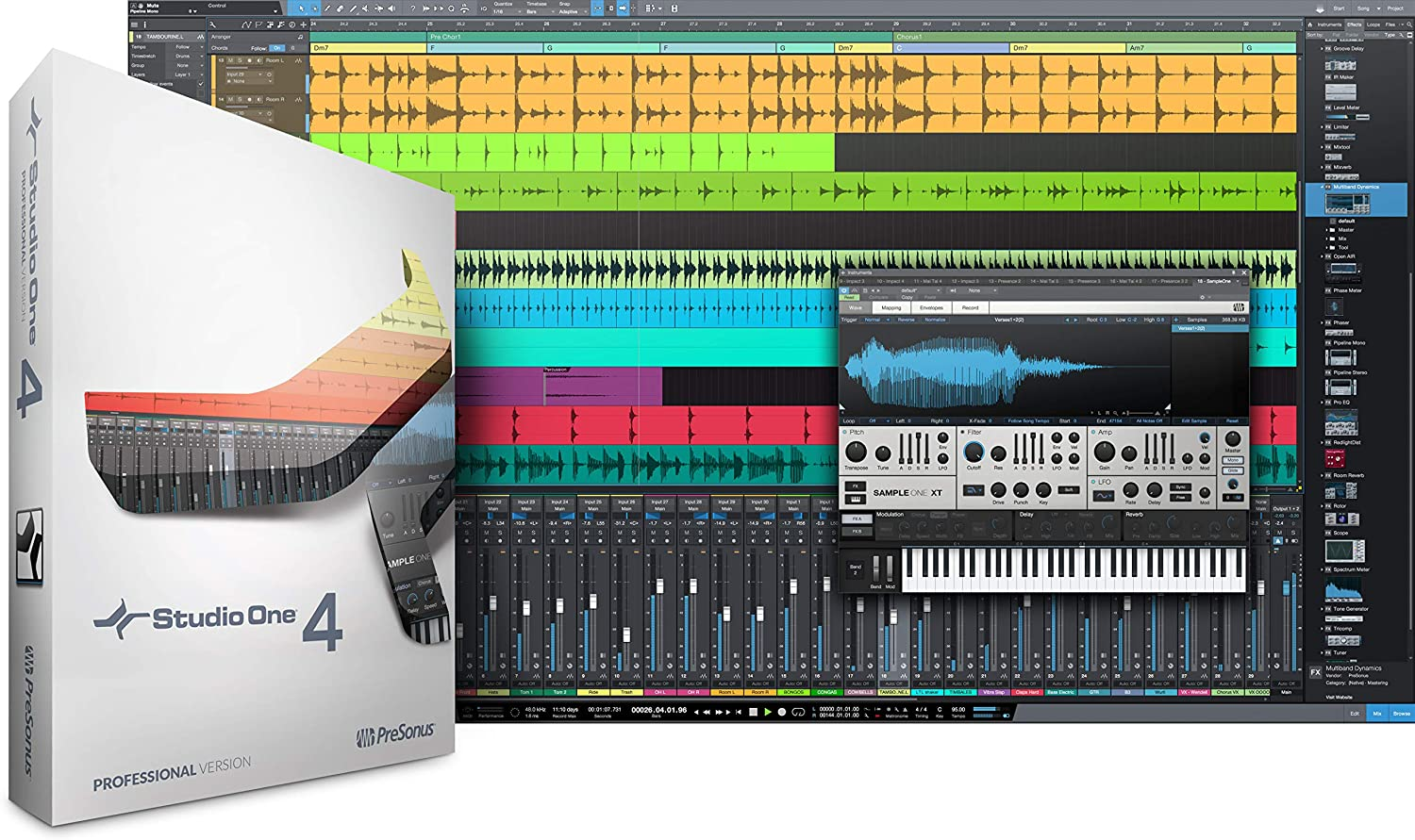 front facing Presonus Studio One 4