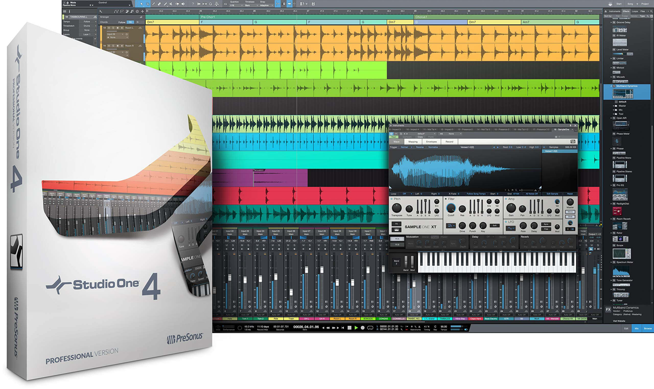 PreSonus Audio Electronics Multitrack Recording Software (Studio One 4 Professional/Boxed) by PreSonus Audio Electronics