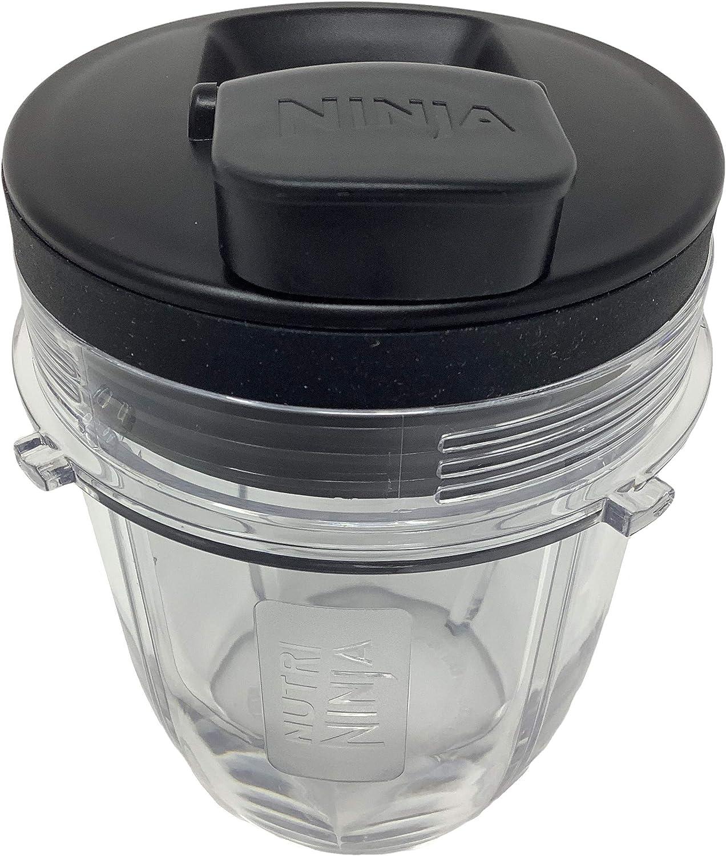 Genuine Nutri Ninja 12oz Tritan Cup w/Spout Lid for Auto-iQ BL450 BL456 BL480 BL482 BL490 BL494 BL641 BL680 BL681 BL682 BL687 BL2012 NN102 Blender