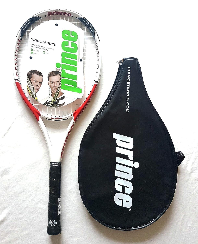 Prince Raqueta de Tenis Fuse Ti Adulto maneja L3 + Cover: Amazon.es: Deportes y aire libre