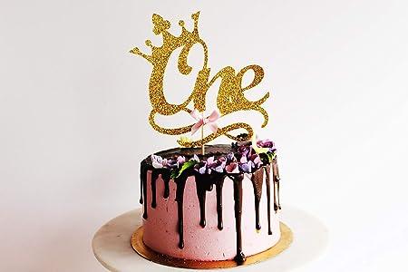Decoración para tarta con purpurina dorada para fiesta de ...