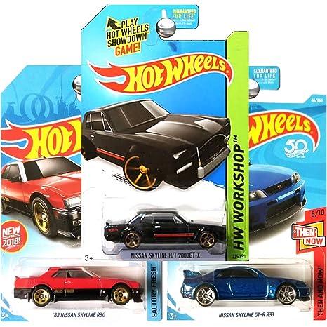 Amazon com: Hot Wheels 2018 and 2014 Nissan Skyline GT-R R33