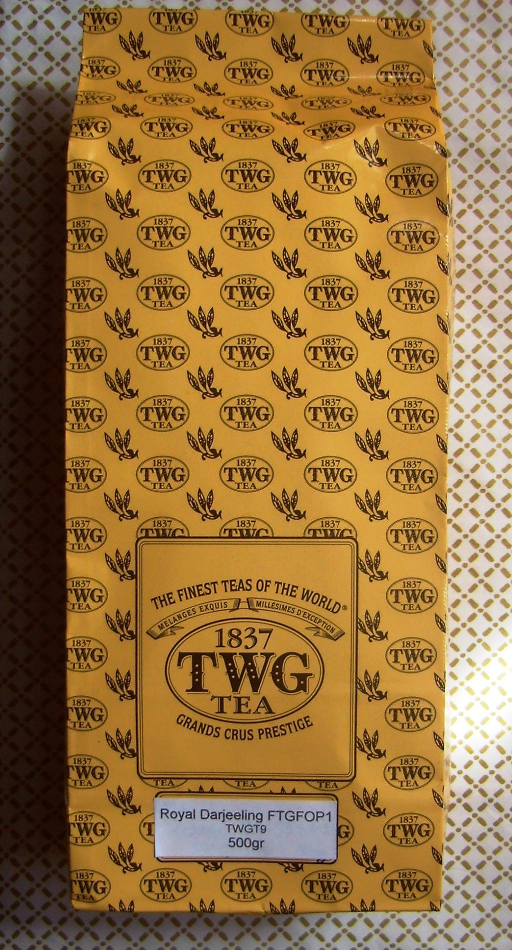 TWG Tea - Royal Darjeeling FTGFOP1 (TWGT6) - 17.63oz / 500gr Loose Leaf BULK BAG
