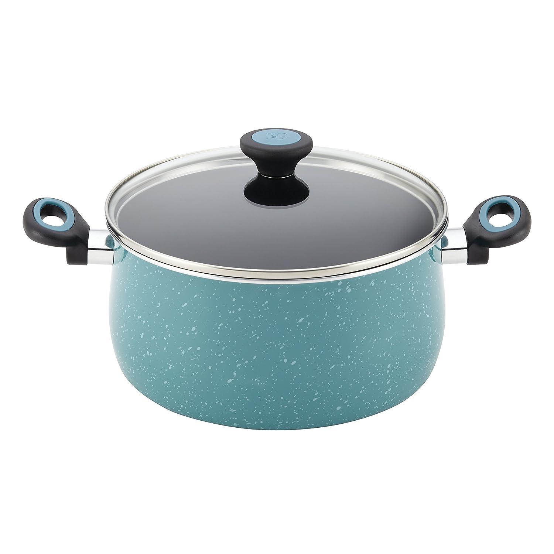 Gulf Blue Speckle 12-Piece Paula Deen Riverbend Aluminum Nonstick Cookware Set