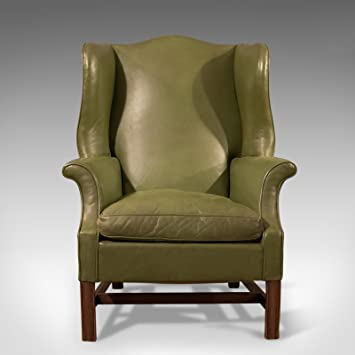 Amazon De London Fine Antiques Grosse Antik Flugel Rucken Sessel