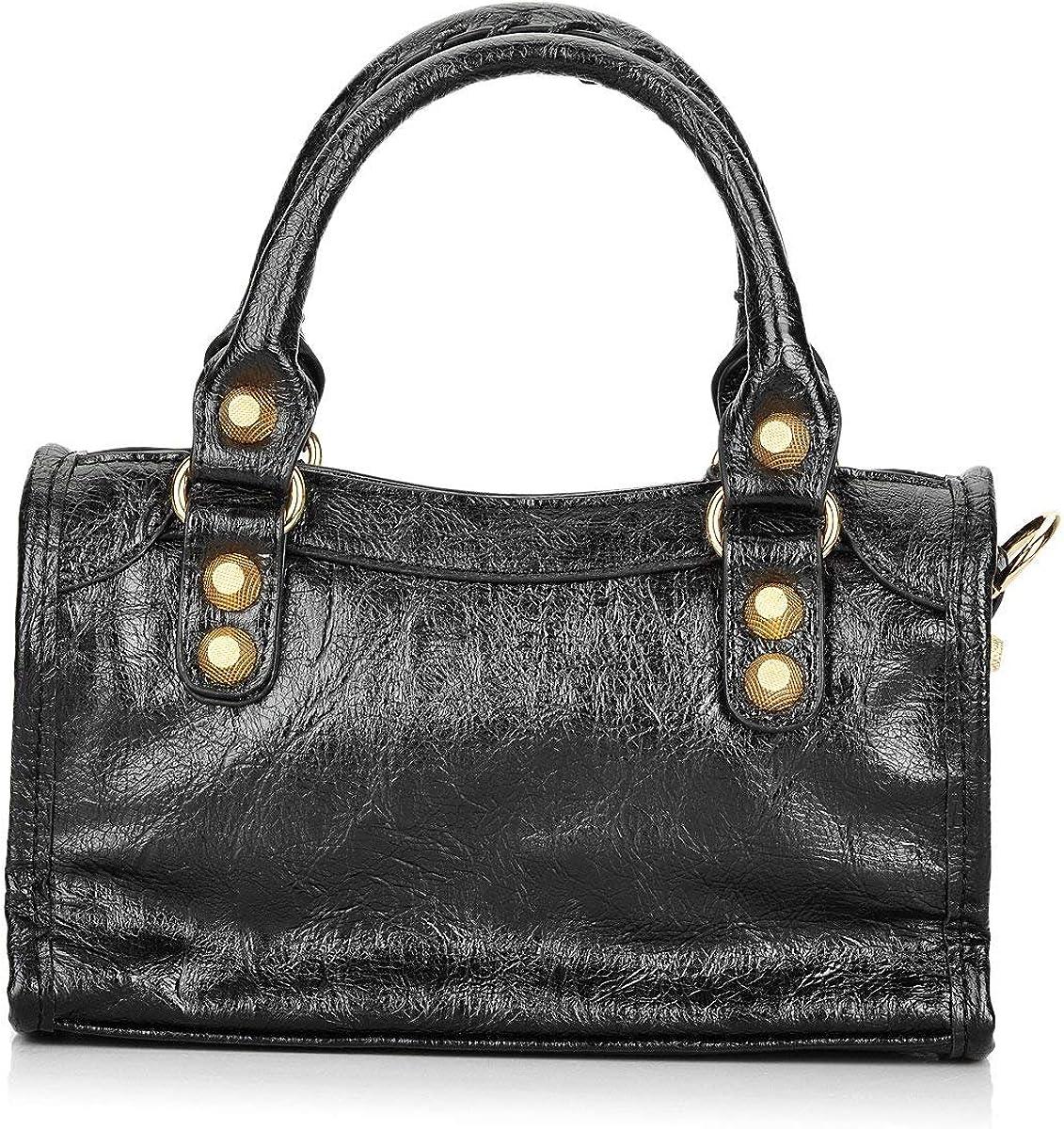 Women Leather Big Gold...