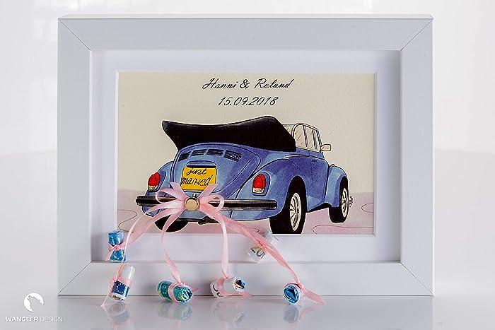 Hochzeitsgeschenk Geldgeschenk Auto Bilderrahmen Amazon De Handmade
