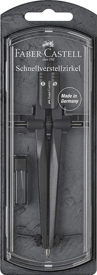 Faber Castell Schnellverstellzirkel Stream Schulzirkel grau Zirkel