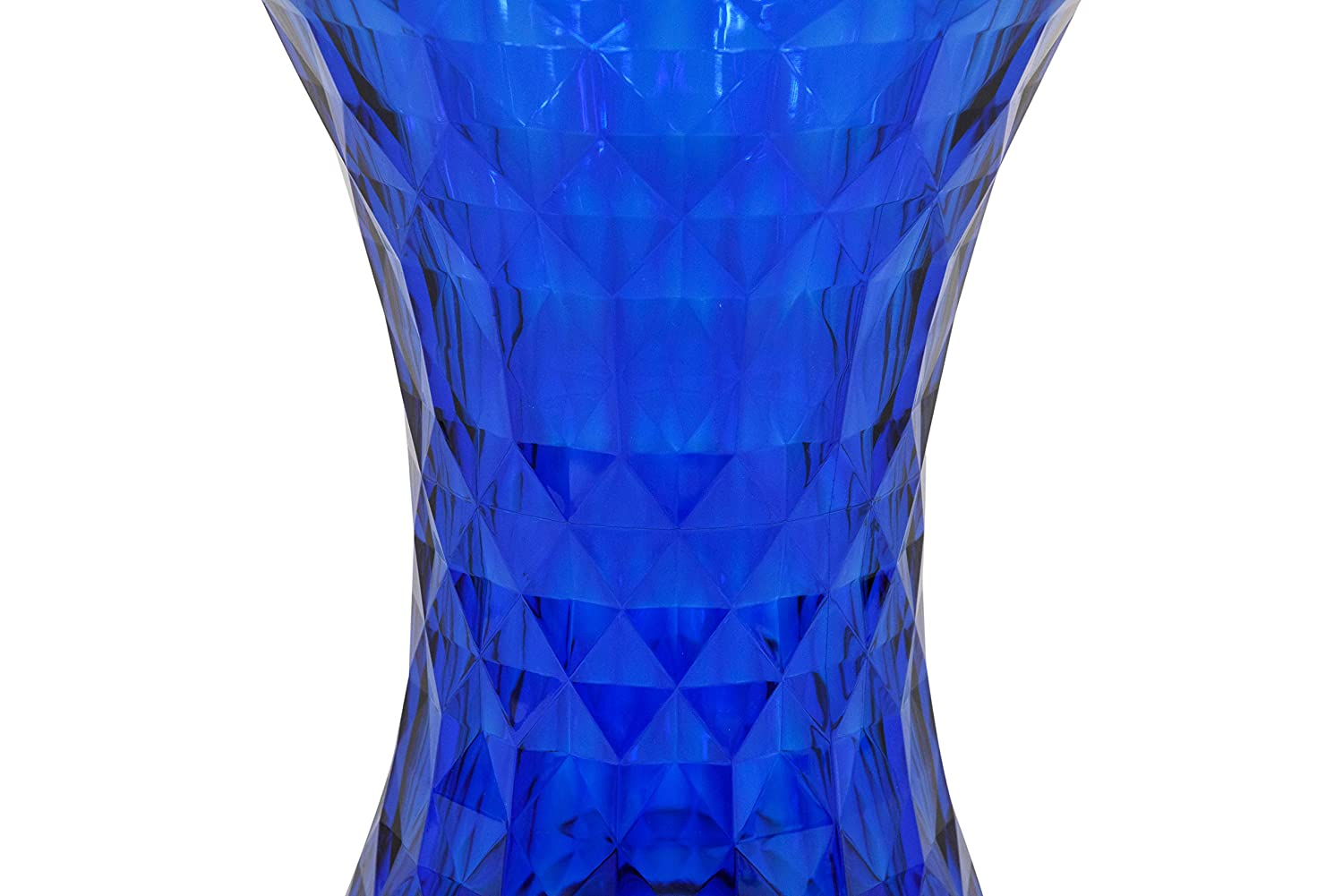 LeisureMod Diamond Shaped Modern Vanity Clio Stool Side Table Indoor and Outdoor Use Blue