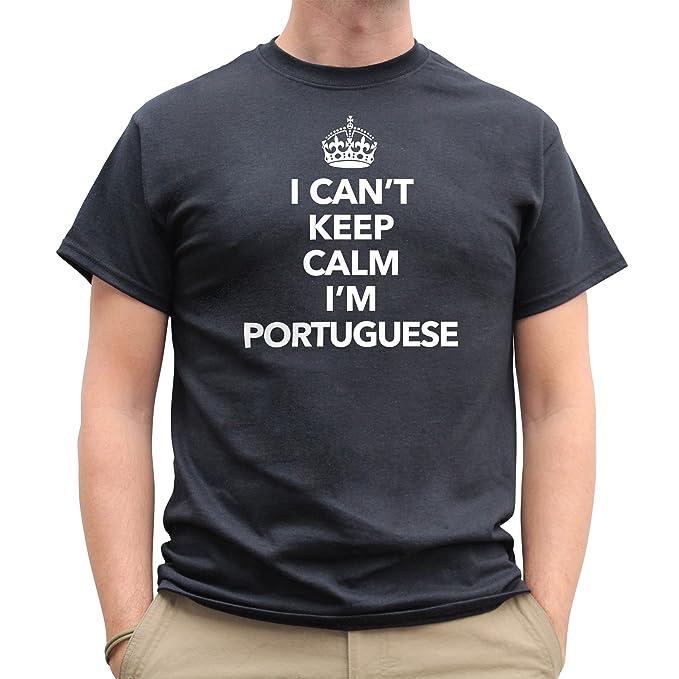 5975fd28 Nutees Mens I Can't Keep Calm I'm Portuguese, Portugal Funny T Shirt ...