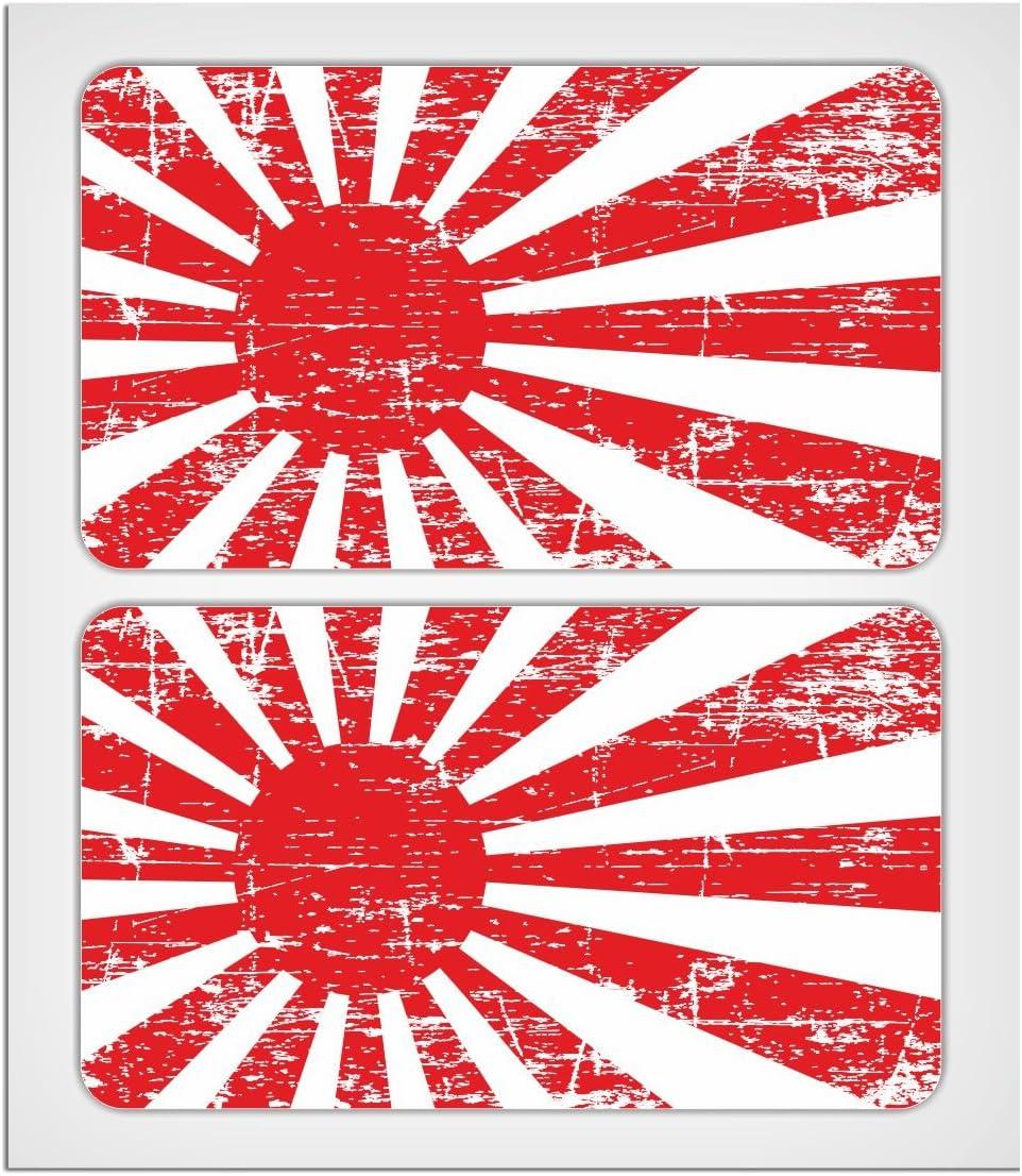 Miovespa Collection Aufkleber Motiv Japanische Aufgehende Sonne Laminiert 70 Mm 2 Stück Auto