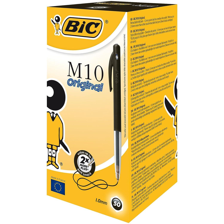 BIC Druckkugelschreiber M10 (0,32 mm) Schachtel à 50 Stück, schwarz B004L11OCC | Modern Und Elegant In Der Mode