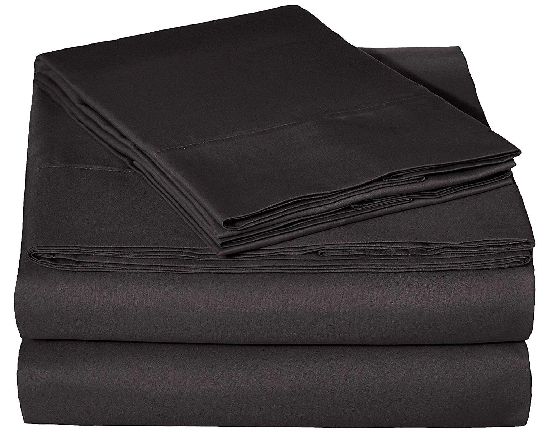 Bed Sheet Set, Brushed Microfiber 1800 Twin Bed Sheet Set 4 Piece BDS
