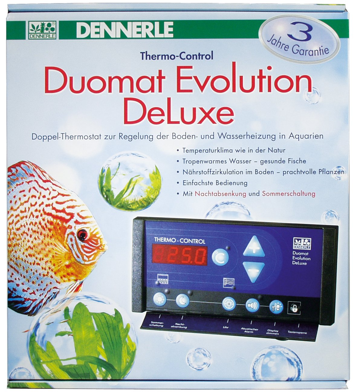 Dennerle Duomat Evolution Deluxe Doppelthermostat fuer Aquarien