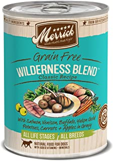 product image for Merrick Classic Grain Free Wilderness Blend Wet Dog Food, 13.2 Oz, Case Of 12 Cans