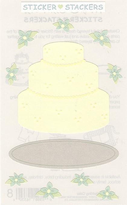 Amazon Wedding Cake Sticker Stackers Textured Scrapbook