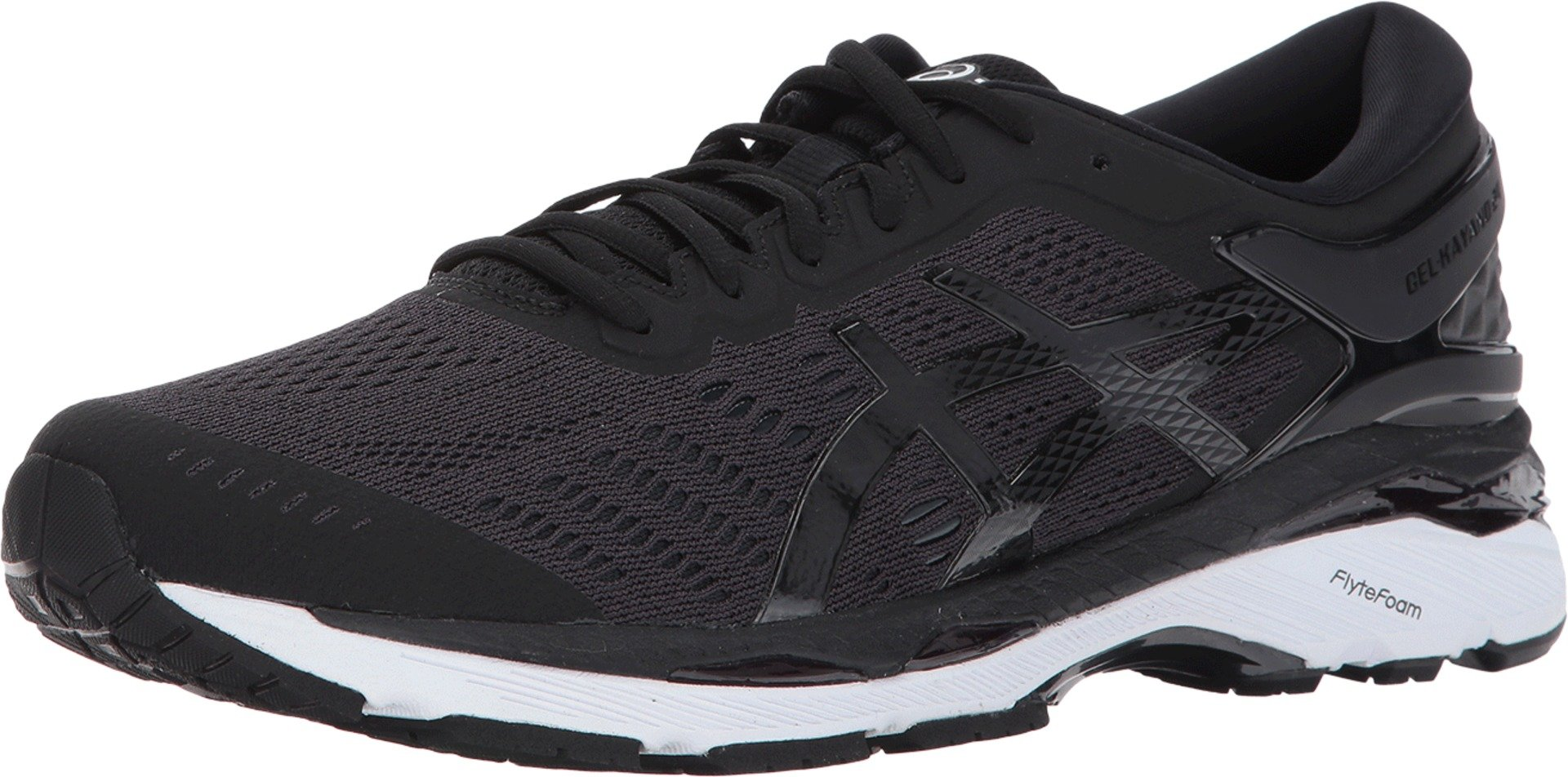 ASICS Mens Gel-Kayano 24 Running Shoe, Black/Phantom/White, 6.5 Medium US