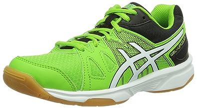 be514078fe9 ASICS Unisex Kids' GEL-UPCOURT GS Badminton Shoes, Grün (Green/White ...