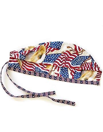 0b635a487cc Grace N May Unisex America Bald Eagle Mens Tie Back Scrub Cap Surgical Cap