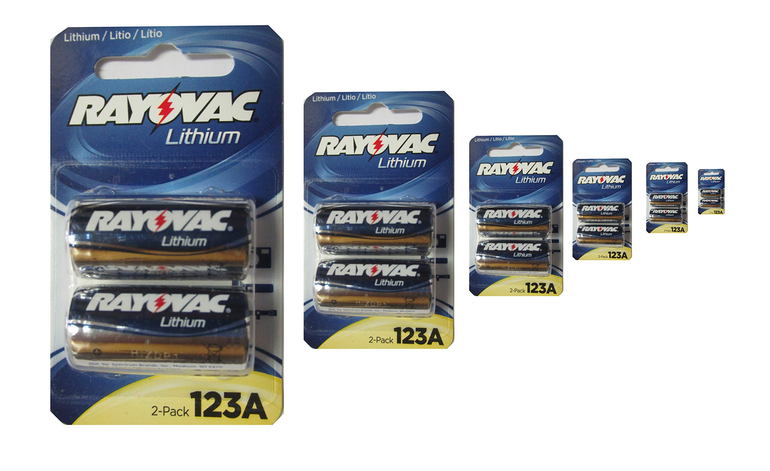 Rayovac Lithium Metal Batteries 123A 12 Count (6 Packs 2) by Rayovac