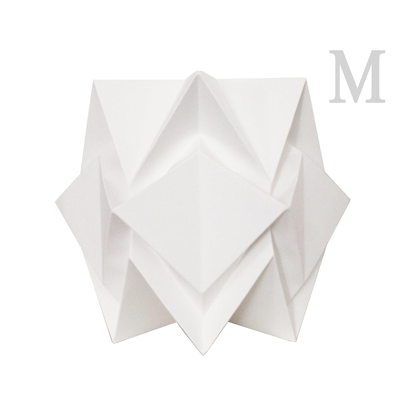 Lampe de table design Origami en Papier blanc Taille M