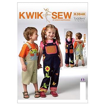 Kwik Sew Mustern k3948 Größe T1 – T2 – T3 – T4 Kleinkind \'Overalls ...