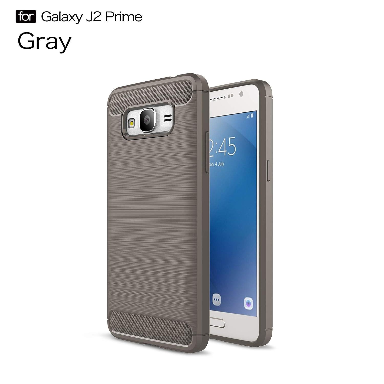 Amazon Galaxy J2 Prime Case SUCOOE [Anti Drop] Thin Non Bulky Shock Absorption Carbon Fiber Flexible TPU Rubber Soft Silicone Full Body Protective