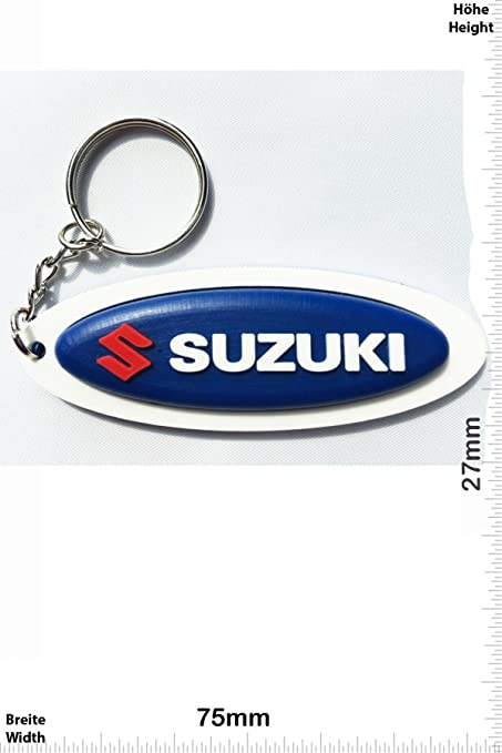 Llaveros - Keychains - Suzuki - blue - Motocross - Motorcycle - Motorbike - Car - Scooter - Key Ring - Kautschuk Rrubber Keyring - perfect also bags, ...