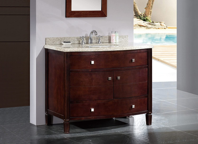 ove decors georgia42 bathroom 42inch vanity ensemble with sandy granite countertop and ceramic basin tobacco amazoncom