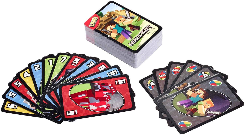Mattel Games FPD61 Minecraft jeu de cartes UNO