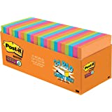 Post-it Super Sticky Notes, 2X Sticking Power, 3 in x 3 in, Rio de Janeiro Collection, 24 Pads, 70 Sheets/Pad, Cabinet Pack