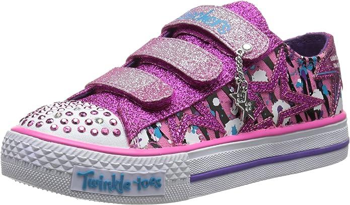 SkechersShuffles Glittler N Glitz - Zapatillas Chica, Color, Talla 35 LA UE: Amazon.es: Zapatos y complementos