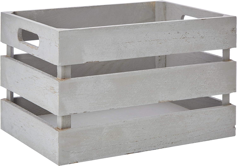 Zeller 15136 Caja de Almacenamiento, Madera, Gris, 31x21x18.7 cm: Amazon.es: Hogar