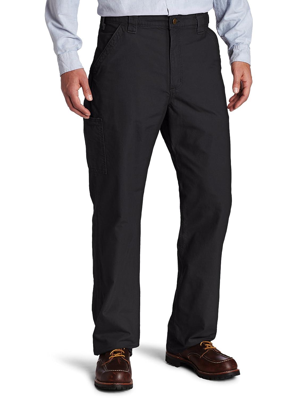 カーハート メンズ キャンバス ワーク ダンガリー パンツ B151 B001GSBBZ8 35W x 30L|ブラック ブラック 35W x 30L