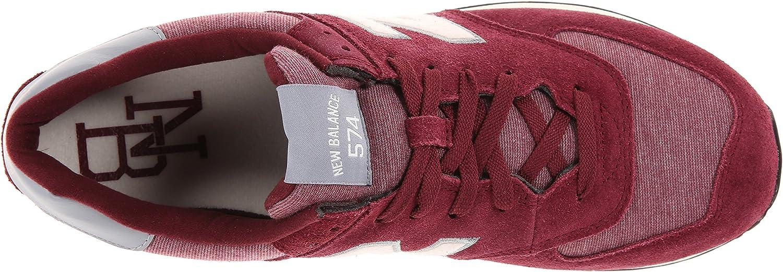 New Balance ML574 Pennant Pack scarpe da corsa da uomo, Rosso ...