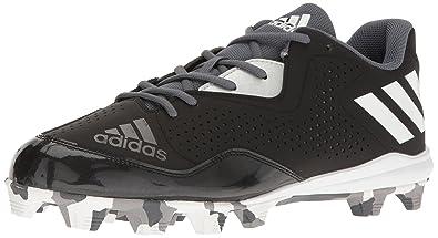 adidas Men\u0027s Wheelhouse 4 Baseball Cleats, Black/White/Metallic/Silver, (