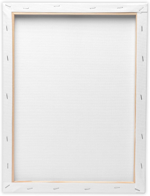 Artina Set of 5 FSC Stretcher Frames Academy 18x24 cm Made of 100/% Cotton Canvas Stretcher frame White 280g//m2 No Distortions
