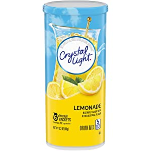 Crystal Light Lemonade Powdered Drink Mix, Caffeine Free, 3.2 oz Can (Pack of 12)