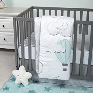 Sammy & Lou 4 Piece Crib Bedding Set, Starry Dreams