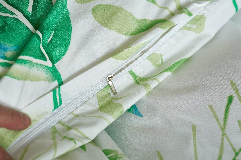 Hidden Zipper Closure 4 Corners Ties Mucalis Floral Duvet Cover Set Queen Lightweight Microfiber White Blue Duvet Cover Full 3 Piece Boho Reversible Pineapple Bedding Set for Boys Girls Teens